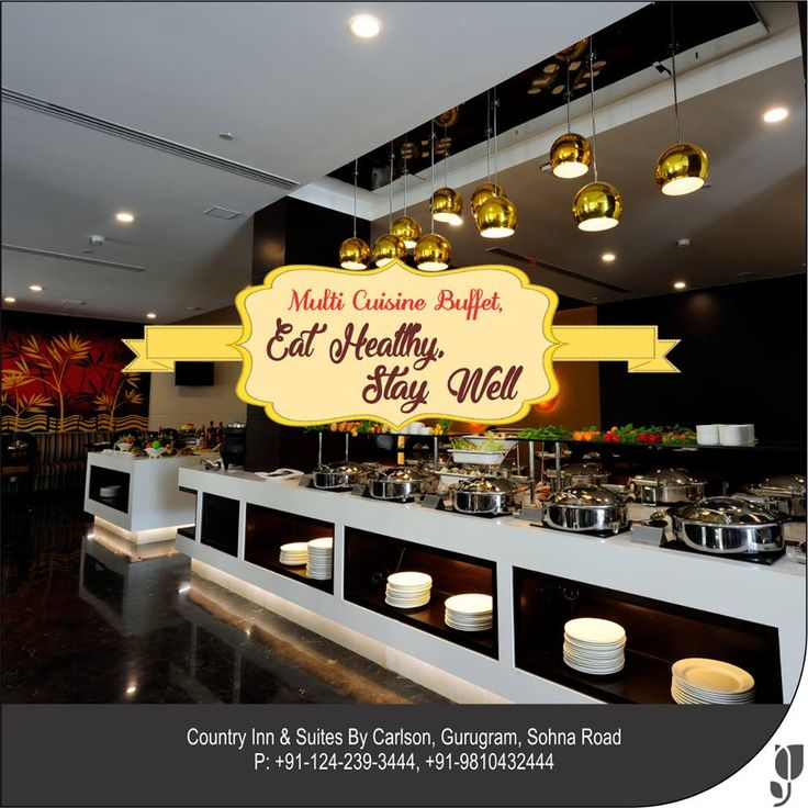 Open up for the delight of multi-cuisine #buffet restaurant with #delicacies from across the globe at #CountryInnSuites #SohnaRoad #Gurugram. The special and unique features of international to local cuisine gives its #guests an extravagant array of #dishes to choose from. For Enquiry/bookings Please call us : 9810432444 and 8130668444.