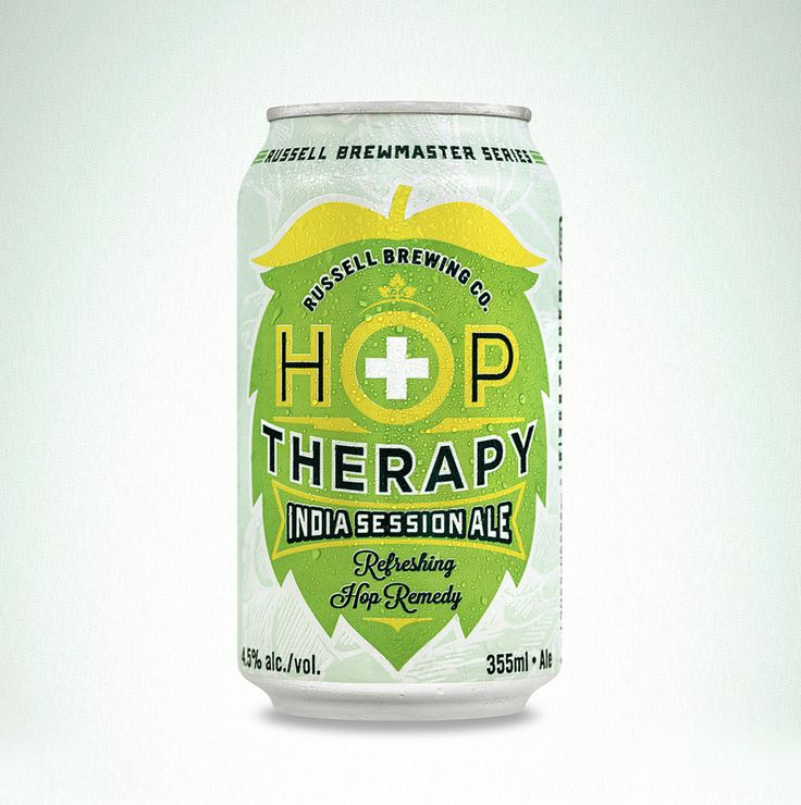 Russell Brewing Co.'s Hop Therapy India Session Ale — The Dieline