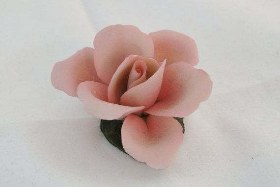 Capodimonte Napoleon Porcelain Pink Rose Made by KatherineSachs