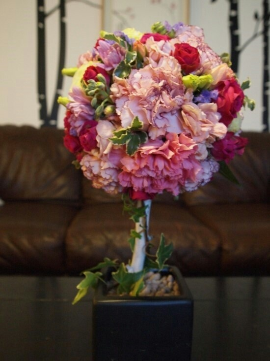 Flower topiary $85.00
