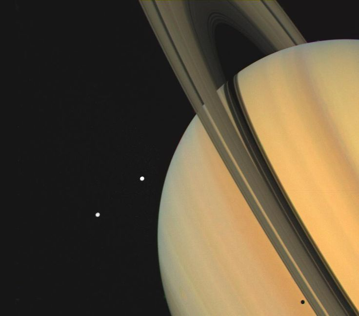 Finally, NASA has its universe of images in one happy, searchable place | Ars Technica 4/17/17 Saturn and 2 of it's moons, Techys and Dione