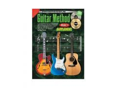 Guitar Method Book 1 Supplementary Songbook - CD & DVD CP69133 A collection of over 70 popular songs with chord symbols which can be used alone or in conjunction with Progressive Guitar Method Book 1.Contains 8 more lessons including information on major scales,Keys,triplets,6/8 time,16th notes,syncopation etc.