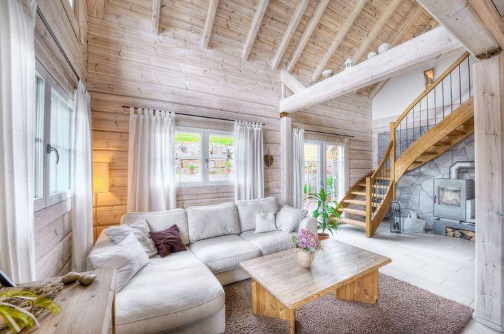 Honka Einfamilienhaus Modell Peak Wohnzimmer