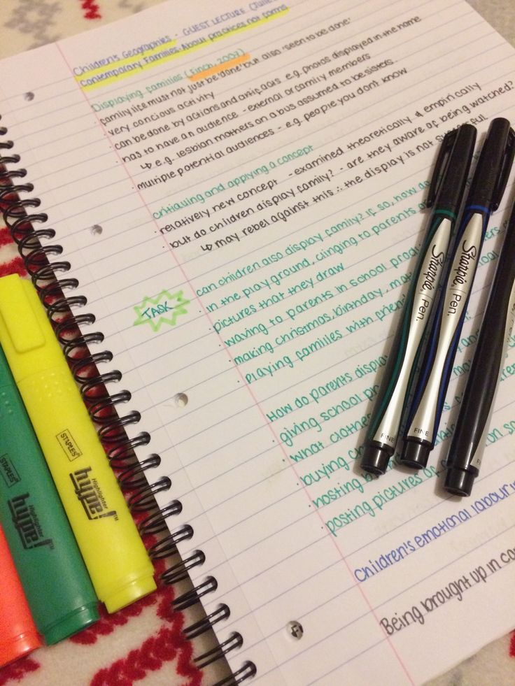 Lecture notes study tips