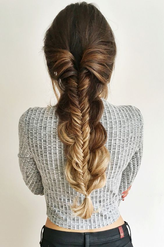 Thick voluminous stacked braid created with Ombre Blonde Luxy Hair Extensions! Love this quick and easy everyday braid by @mimiikonn! Photo by: https://instagram.com/p/80sGaPlFai/?taken-by=mimiikonn #LuxyHairExtensions: