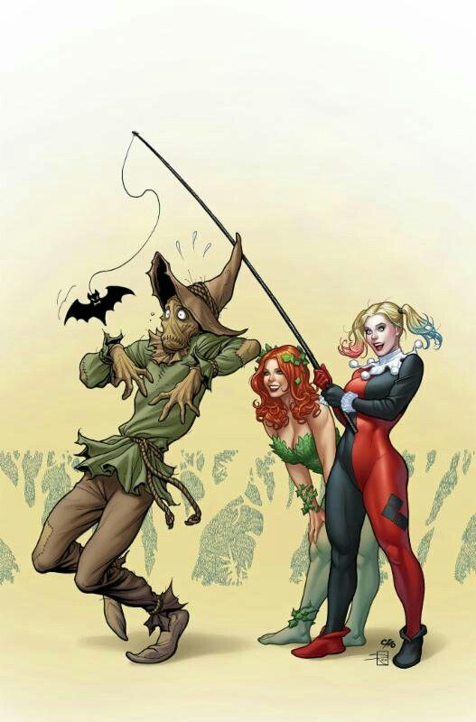 Frank Cho Harley, Ivy, and Scarecrow