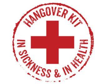 Hangover Kit Rubber Stamp Wedding Stamp Hotel Bag Stamp