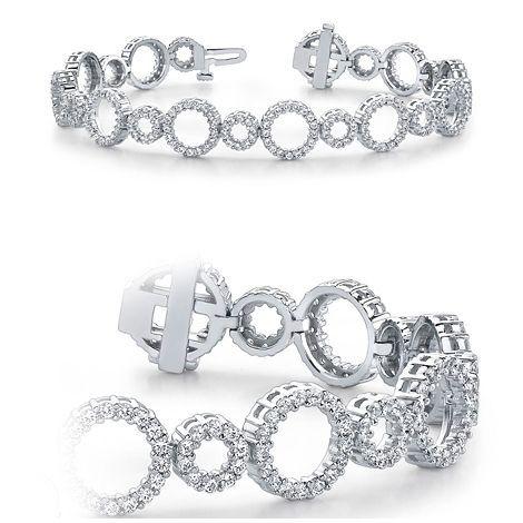 4.00 Karat Diamant Armband aus 585er Weißgold gefertigt - Dieses Diamant Armband ist für nur 8500.00 Euro bei www.juwelierhausabt.de erhältlich.