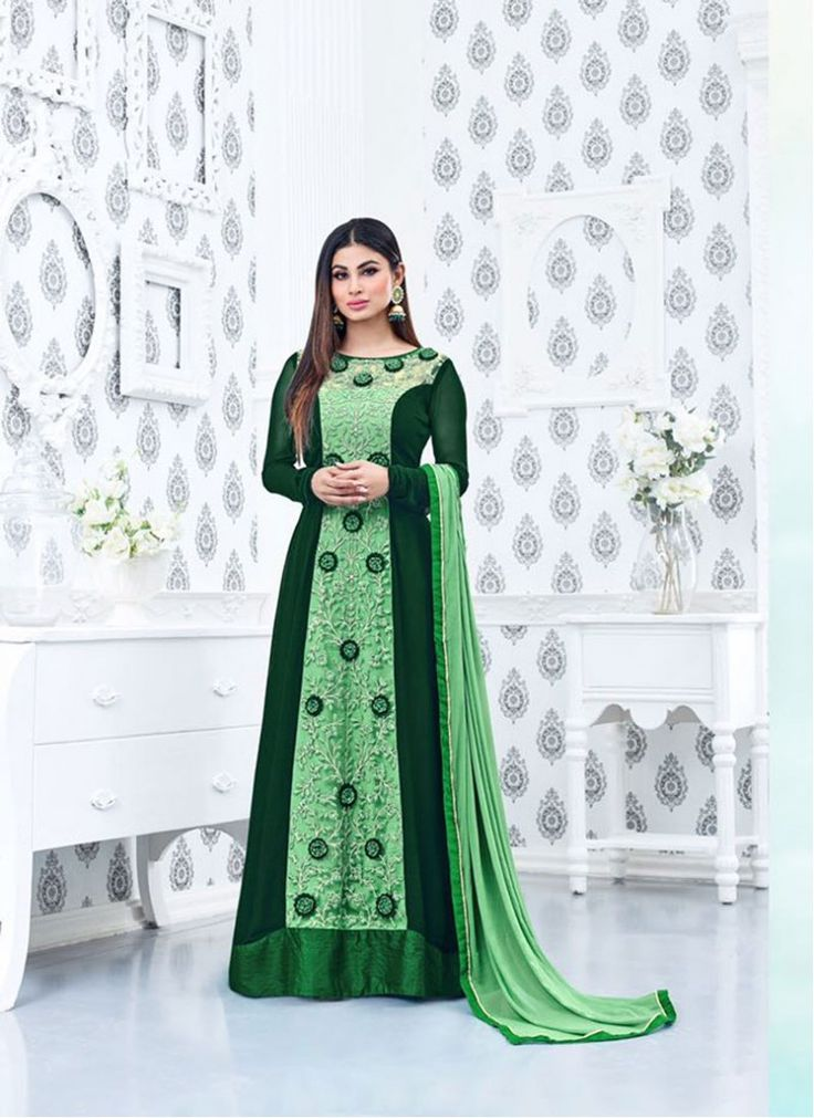 Urbane Mauni Roy Green Indian Bollywood Salwar Kameez