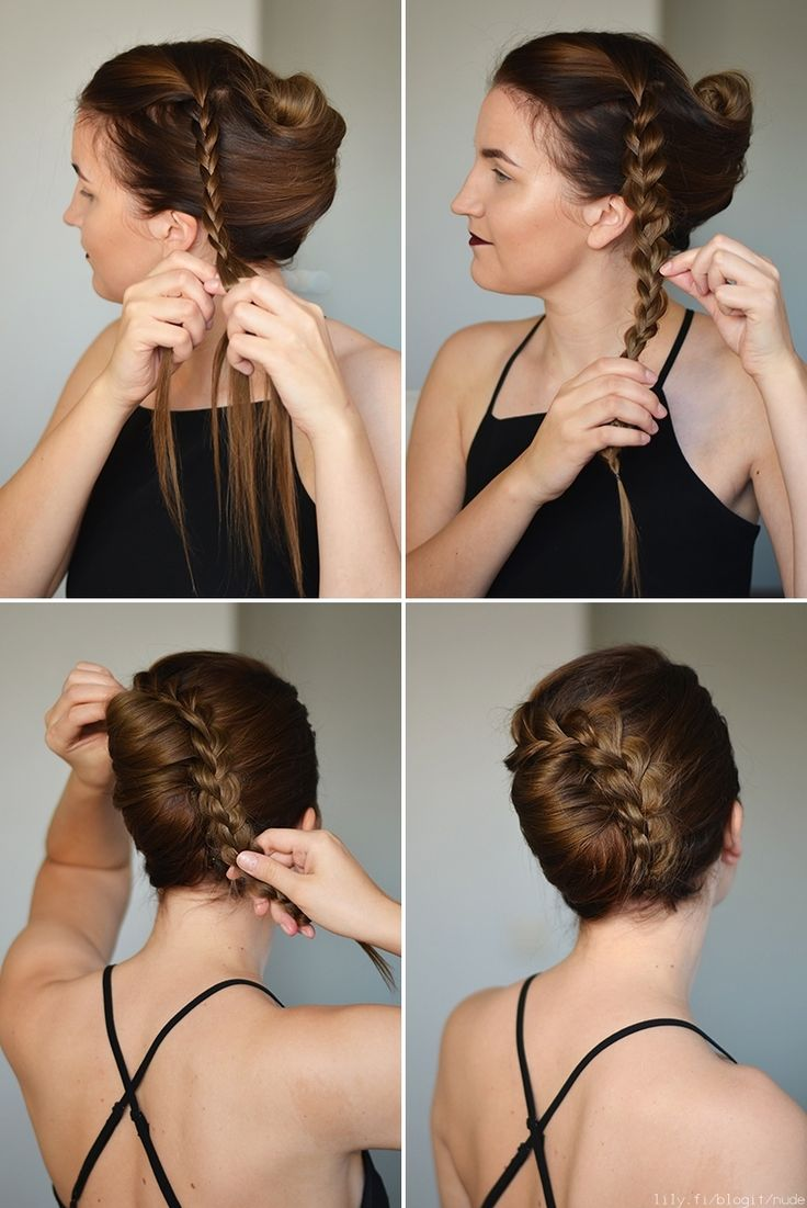 Kampaustutorial: Letitetty Banaaninuttura | Hair Tutorial: Braided French Twist - NUDE | Lily.fi