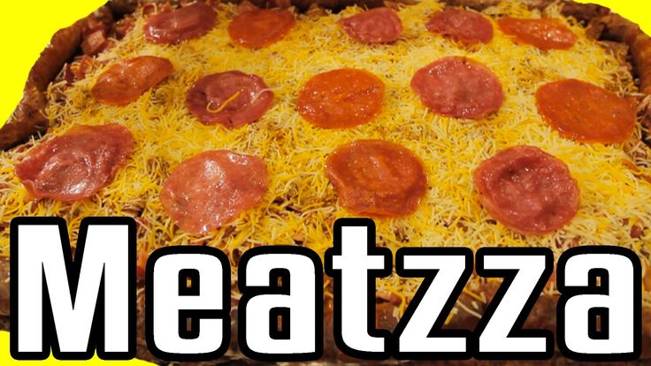 "Meatzza - Epic Meal Time The answer to your cauliflower crust ""pizza"""