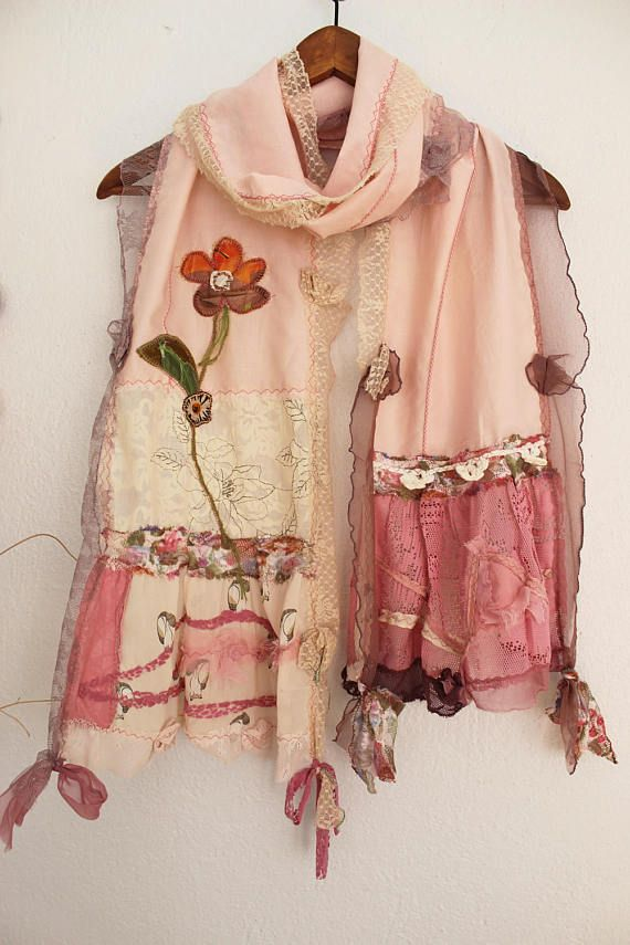 Dust Pink scarf pink cotton scarf cream lace scarf mothers