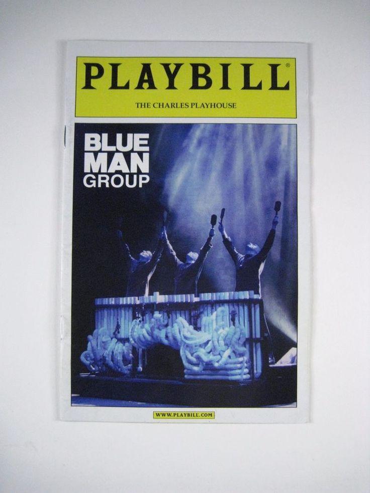 Blue Man Group Playbill The Charles Playhouse November 2010
