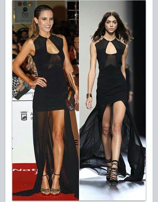 Vestido  negro juanjo oliva