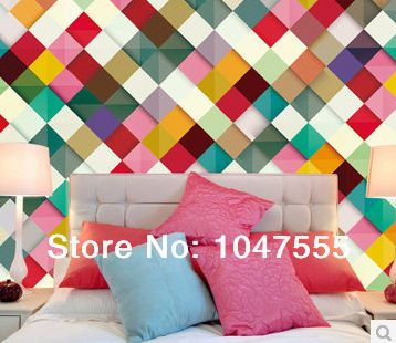 3d wallpaper Abstract backdrop bedroom hallway wall covering paper seamless plaid wallpaper murals charm  mural wallpaper