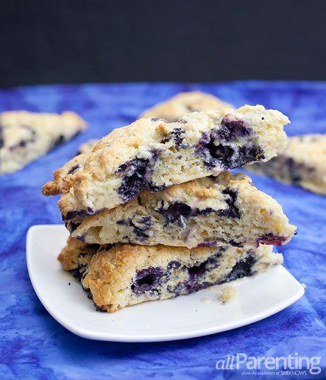 Blueberry scones with lemon glaze | Eat it | Pinterest