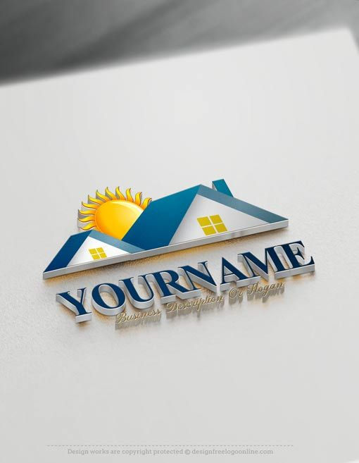 Online Real estate House Logo Design Make your own Real estate Logo with our Free LogoCreator Ready made Real estate House Logo Design. Realty Logo Designs are great forbranding Interior designer, construction materialsstore, Construction company, real estate agencyetc. How to createalogo online with our Free Logo Maker? 1- Customize this Real estate logo with our free logo creatortool.