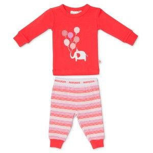 Marquise Stripe Elephant With Balloons PJs