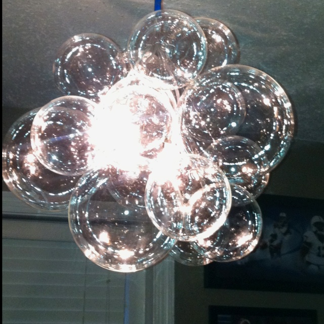 57 best home lighting images on pinterest light fixtures bubble chandelier ikea light with cb2 glass balls and fishing line aloadofball Image collections