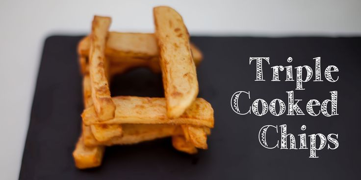 Triple cooked chips - https://foodgeekblog.dk/da/triple-cooked-chips/