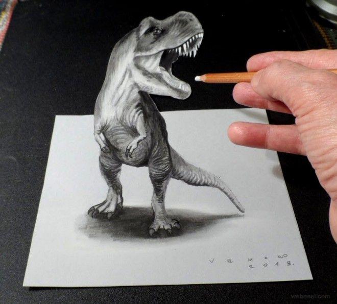 объемные рисунки животных часть картины босха
