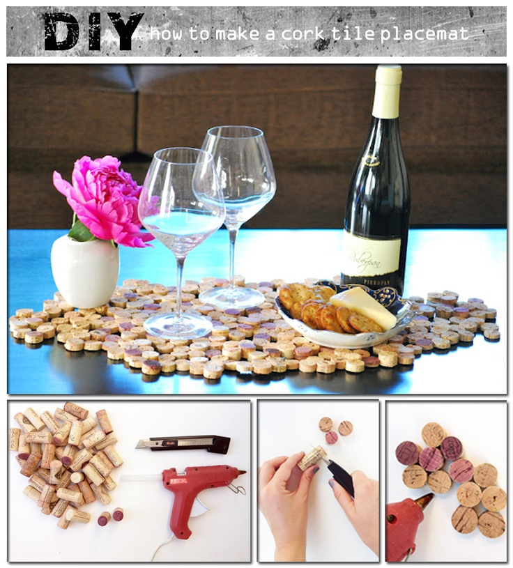 how to make  a cork tile placement