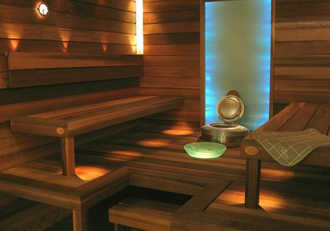 Sauna and sauna lights
