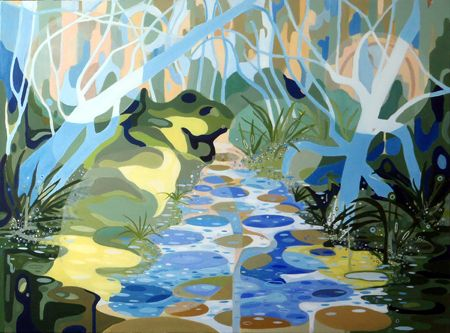 Patricia Mado  Ghost Gum Springs - 2012  Oil on Canvas  100 x 75 cm
