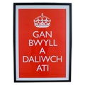Welsh 'Keep Calm and Carry On' poster