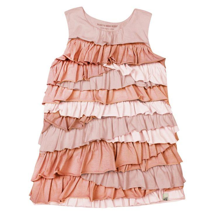 Burt's Bees Baby Toddler Girls' Ruffle Tier Dress - Pink 2T, Toddler Girl's