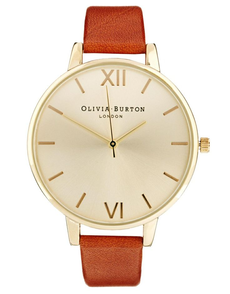 Olivia Burton | Olivia Burton Big Dial Brown Watch at ASOS