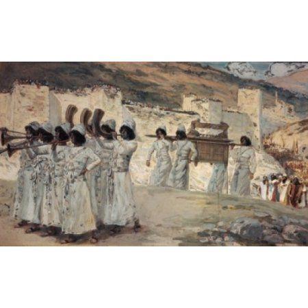 The Seven Trumpets of Jericho James Tissot (1836-1902 French) Canvas Art - James Tissot (24 x 36)