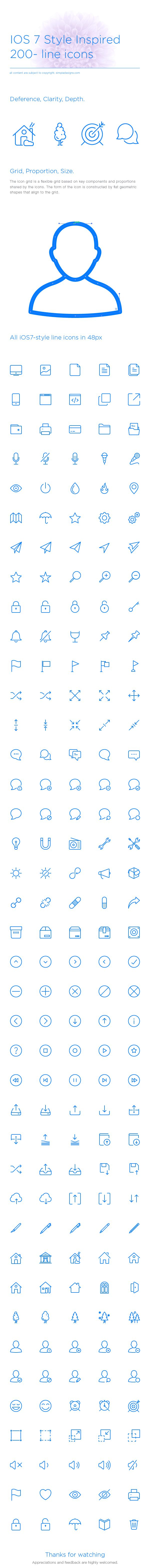 iOS Line icons on Behance