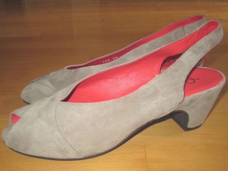 * * * Pas de Rouge Wildleder Sandaletten beige, Gr.42 * * *