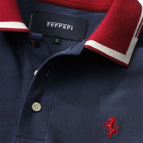Men's Ferrari Cavallino Rampante Polo Shirt #ferrari #ferraristore #menswear #polo #poloshirt #cavallinorampante #prancinghorse #ss2014 #springsummer #2014springsummer