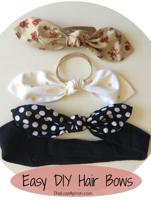 38 Creative DIY Hair Accessories - Easy Hair Bows - Create Pretty Hairstyles for Women, Teens and Girls with These Easy Tutorials - Vintage and Boho Looks for Prom and Wedding - Step by Step Instructions for Cool Headbands, Barettes, Pony Tail Holders, Hair Clips, Bobby Pins and Bows http://diyprojectsforteens.com/diy-hair-accessories