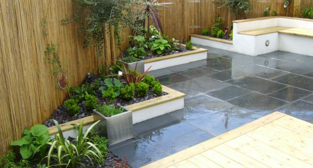 Mid Century Modern Planter Ideas: Mid Century Modern Gravel And Mulch