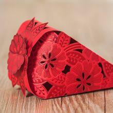 Creativo Gelato cono A Forma di Caramella di Cerimonia Nuziale regalo Del Partito di favore holder 50 PEZZI/LOTTO(China (Mainland))