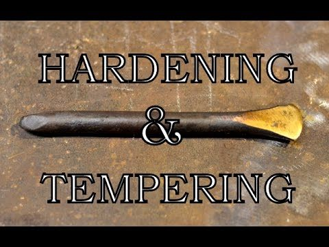 Heat Treating 01 Tool Steel Plane Blank Irons at Home - YouTube