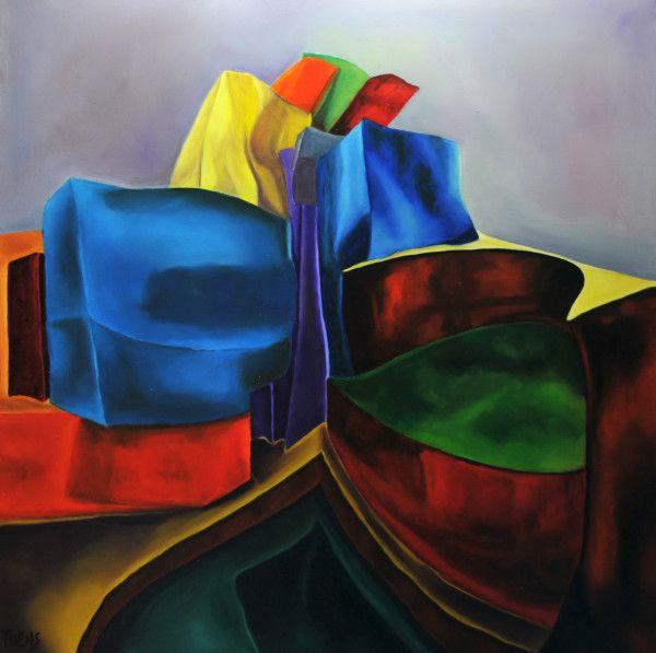 """GUGGEN III""  The Guggenheim Museum , Bilbao.Oil by Fuensanta Ruiz Uríen, Bilbao.Spain."