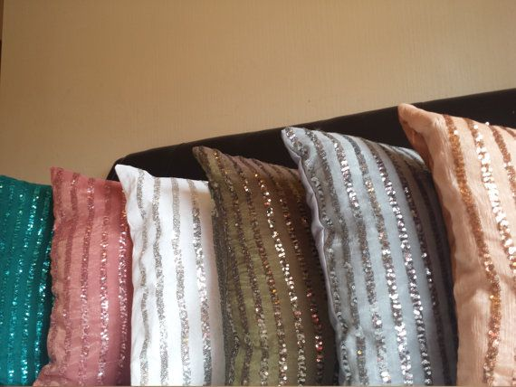 sparkly pillowsglittery cushionDecorative by SidrealHome on Etsy