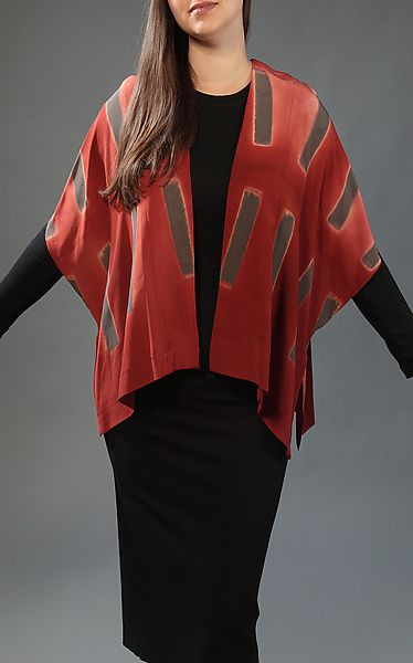 Dash Jacket by Laura Hunter: Silk Jacket available at www.artfulhome.com