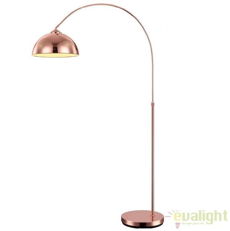 Lampadar, lampa de podea cu inaltime reglabila, NEWCASTLE 58227C Globo Lighting - Corpuri de iluminat, lustre, aplice