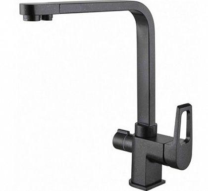 Однорычажный смеситель для кухни Zorg, h 298 мм, вынос 220 мм, черный металлик ZR 334 YF-BLA