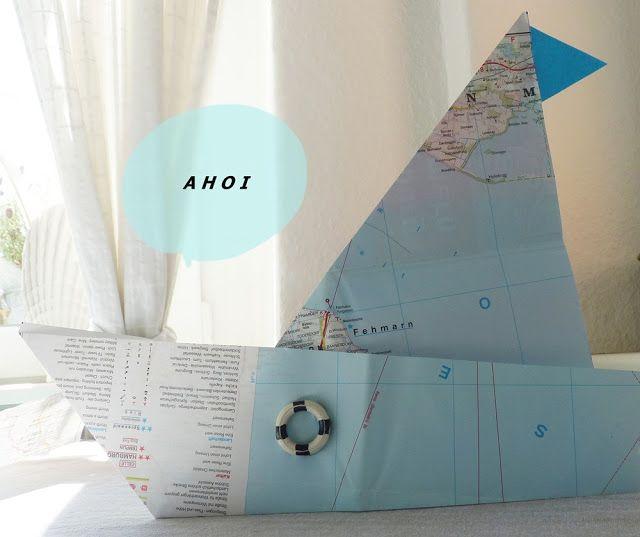 living4family: Wohnen und Deko Papierschiff, Schiffchen, maritim,
