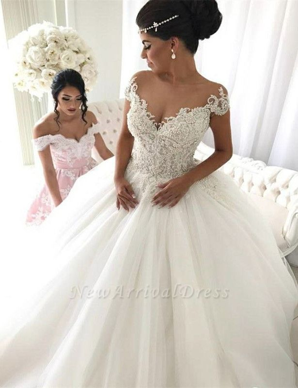 Popular Ball Gown New Arrival Lace Off The Shoulder Elegant Wedding Dresses  | Ivory Bridal Gowns | Ivory bridal gown, Wedding dresses uk, Ball gown  wedding dress