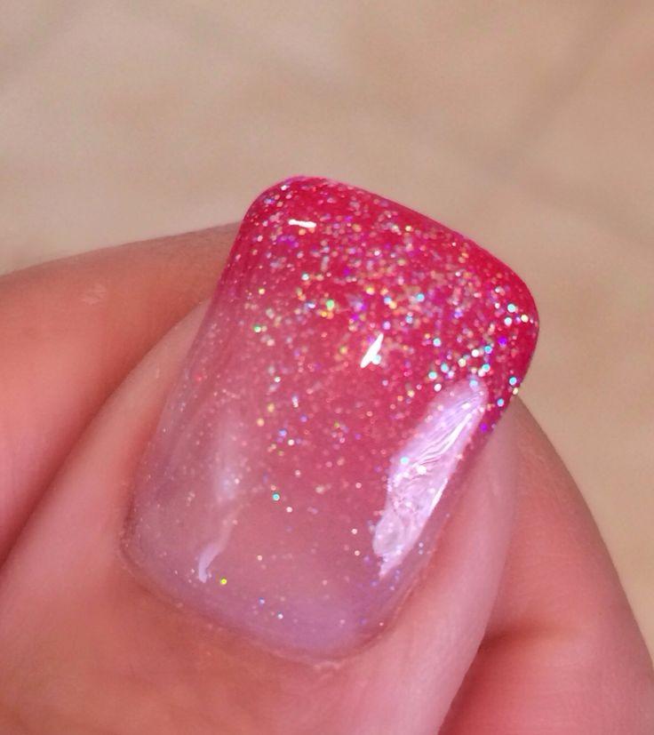 Love my pink glitter gel nails! #gel #glitter #fade #lovemynails