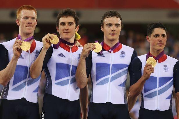 Ed Clancy, Geraint Thomas, Steven Burke and Peter Kennaugh - cycling, men's team pursuit. (6)