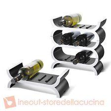 ZACK Cantinetta portabottiglie 3 elementi bottiglia vino spumante VITIS