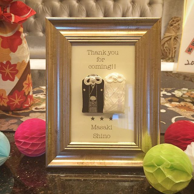 御守りもかわいく飾ってくれててうれしかったの( ′ᴗ‵ )♡ #結婚式 #ブライダル #ウェルカムボード #ウェルカムグッズ #夫婦守り #御守り #いつか自分も欲しい #いつになることやら